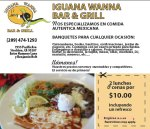 2 for $10 at Iguana Wanna Restaurant