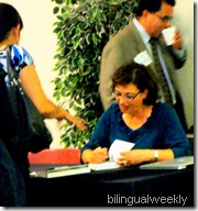 Book Signing with Sonia Nazario, the author of the book Enrique`s Journey.
