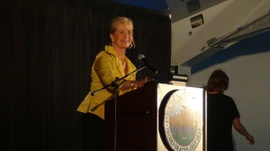 Ann Johnson at the State of the City Address, Stockton Port 2012