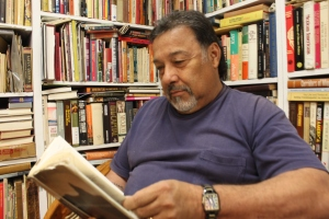 Soto in his library