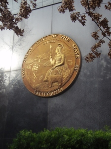 The California State Seal Outside that Natural Resources Building by Deanna Lynn Wulff